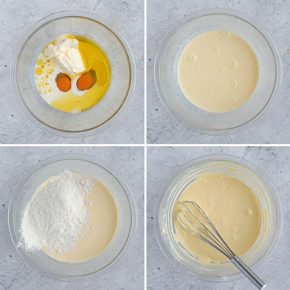 Process Shot: making the pancake batter