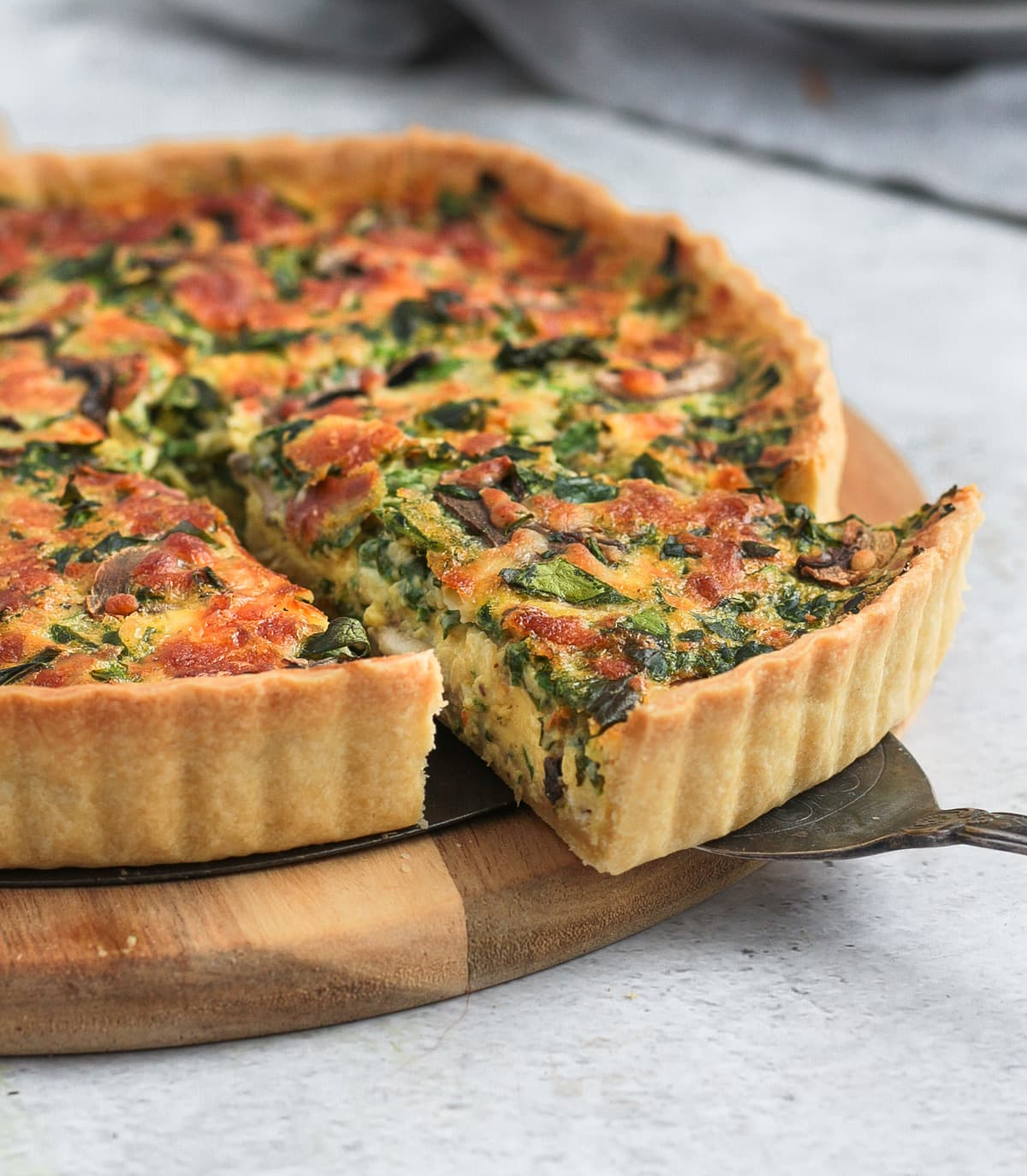 Taking a slice of the quiche