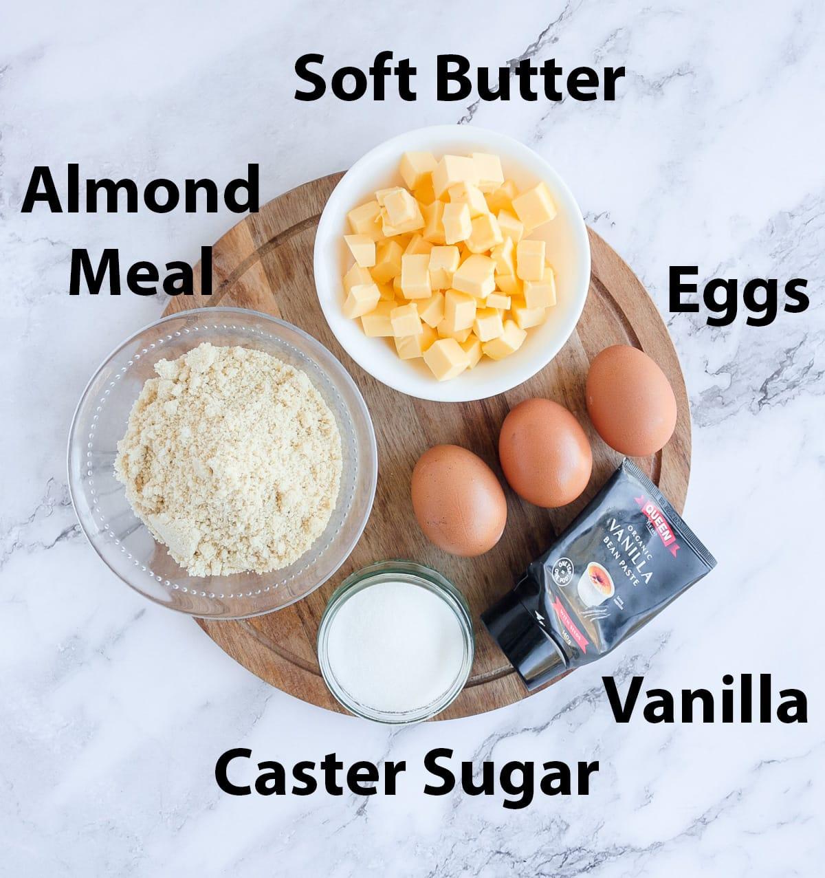 Almond Cream Filling Ingredient Shot.