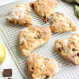 Pear Chocolate Scones