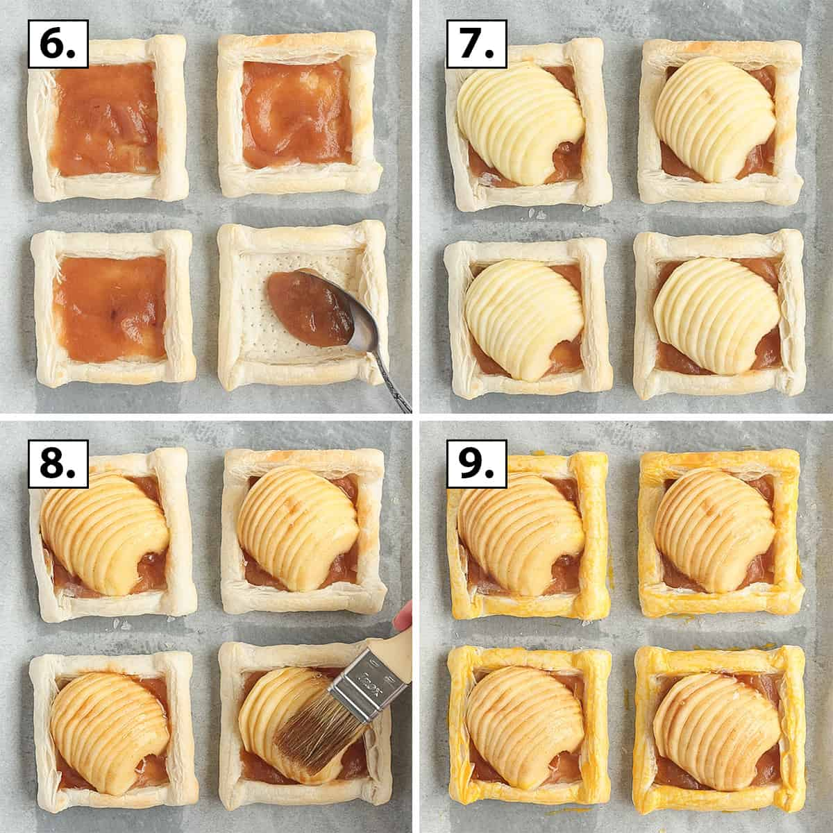 Process Shot: assembling the tartlets.