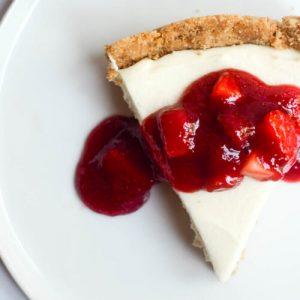 No Bake Strawberry Cheesecake.