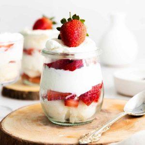 Strawberry Shortcake Triffes.