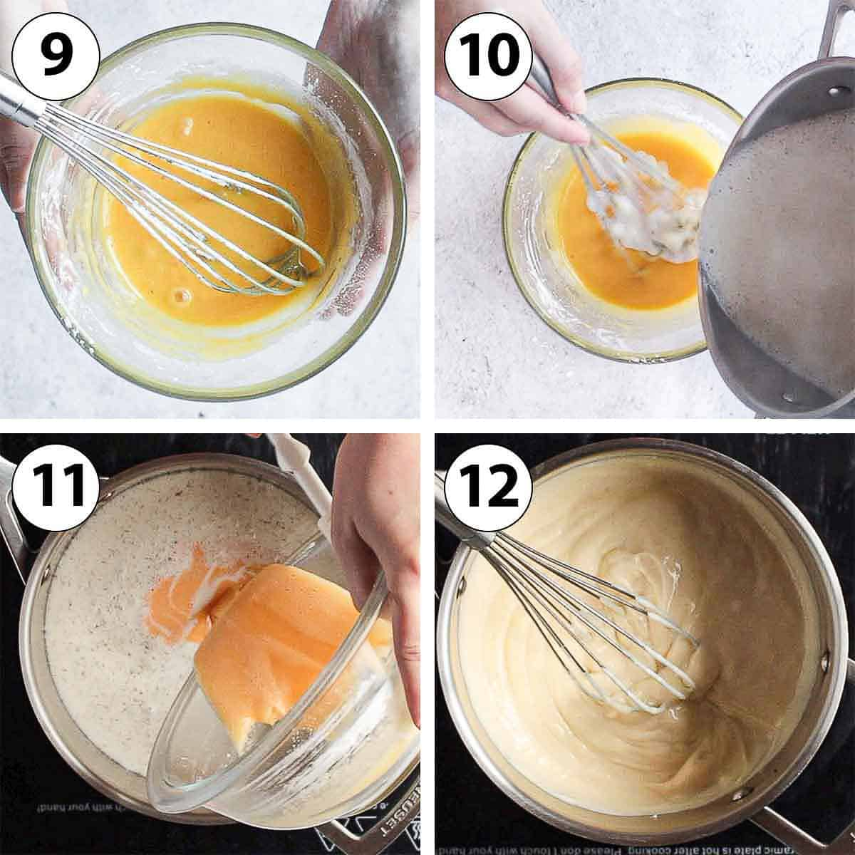 Process Shot Collage: making the pastry cream.
