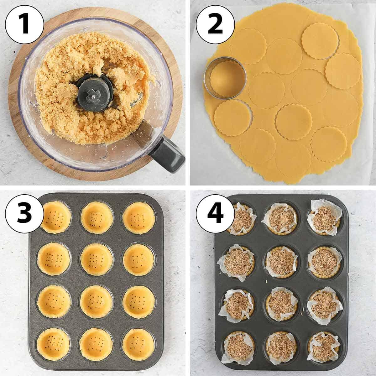 Process Shot Collage: making the tartlet shells.