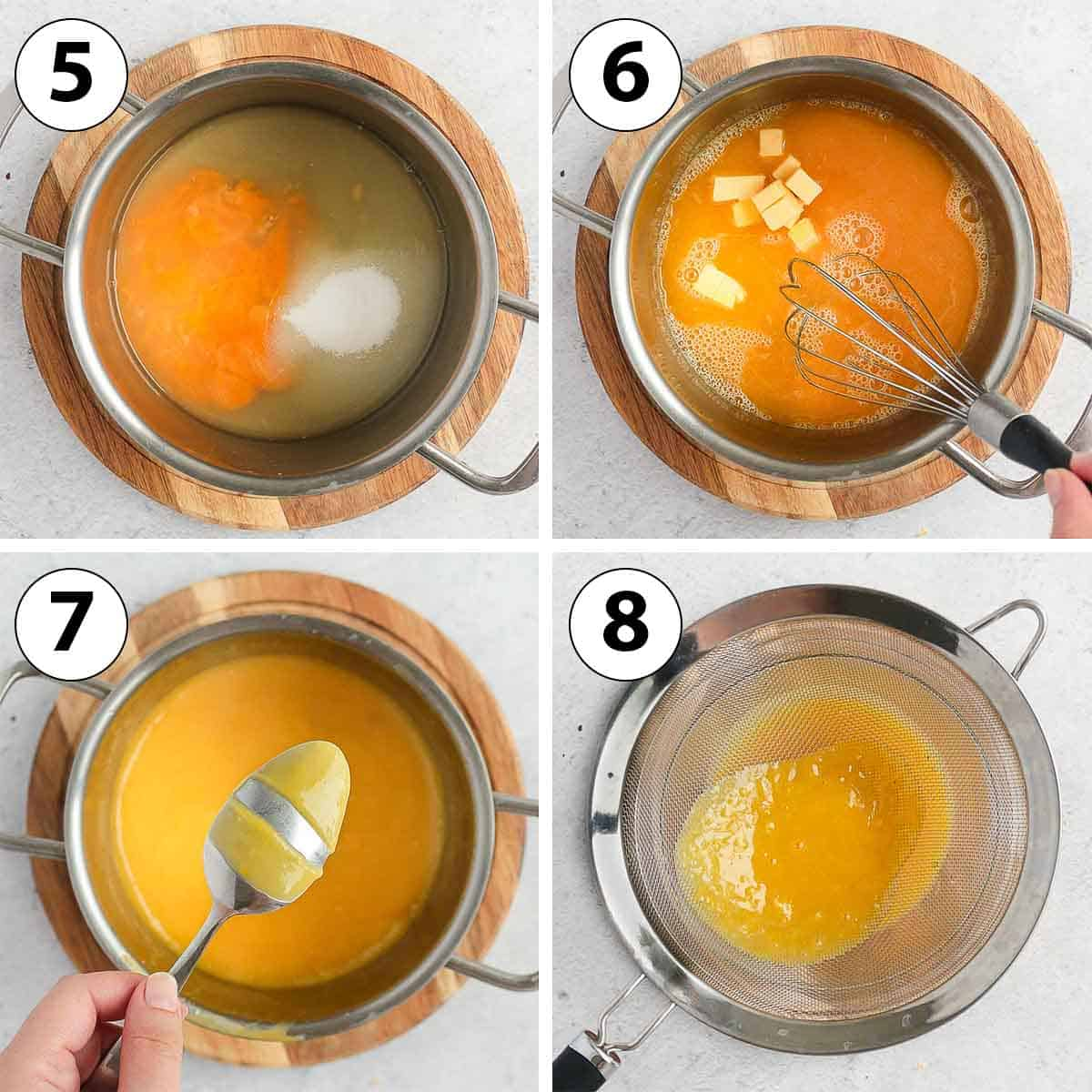 Process Shot Collage: making the lemon curd filling.