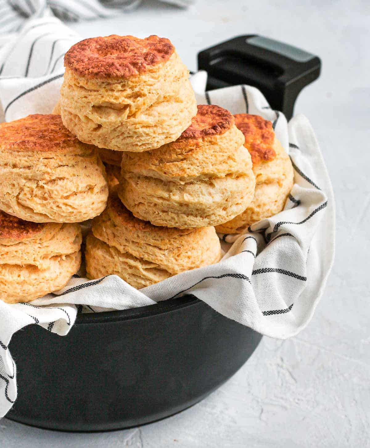 Scones stacked inside the Remoska.