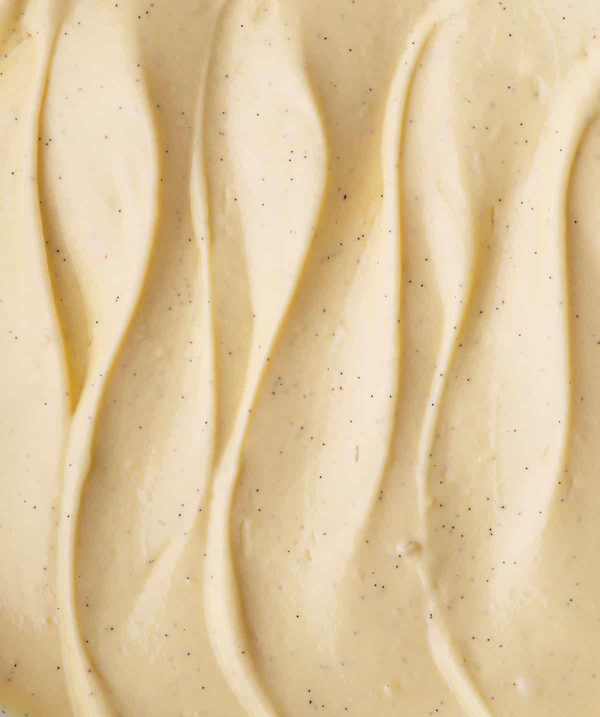 Close up waves of cream.